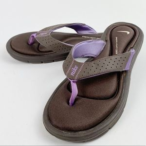 Nike Thong Padded Sandals Brown Lilac 7